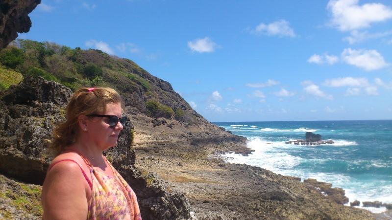Ann et l'océan depuis Les Galeries